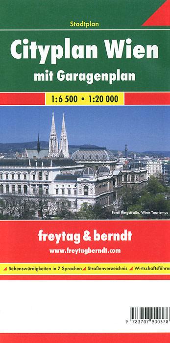 Cityplan Wien mit Garagenplan: Stadtplan