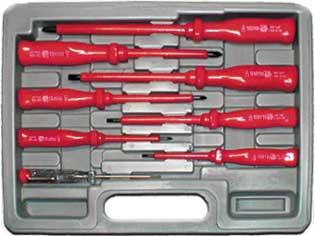 Набор отверток Fit, до 1000 В, 7 шт + 1 отвертка индикатор tayo футляр для хранения 2 х ножниц 21 5 см х 8 5 см х 2 5 см