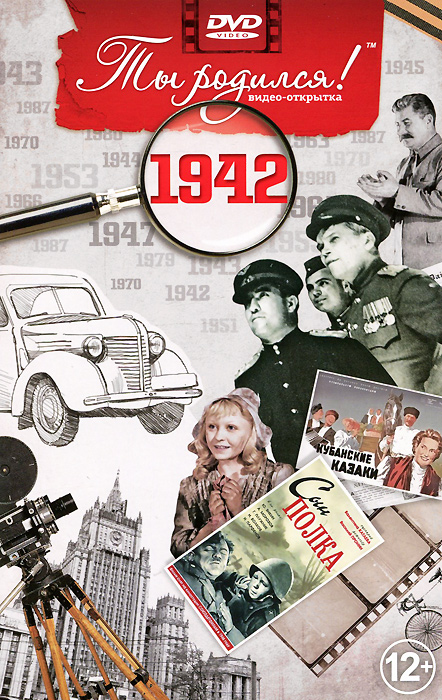 Видео-открытка Ты родился!: 1942 год видео открытка ты родился 1977 год