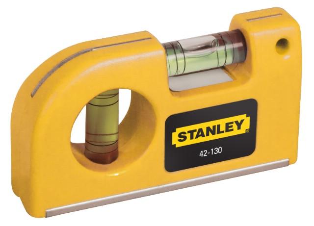 Уровень Stanley, карманный, 2 капсулы, цвет: желтый, 9 см