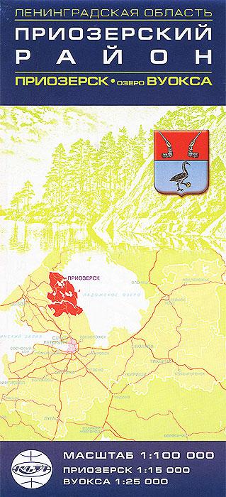 Приозерский район. Приозерск. Озеро Вуокса. Карта
