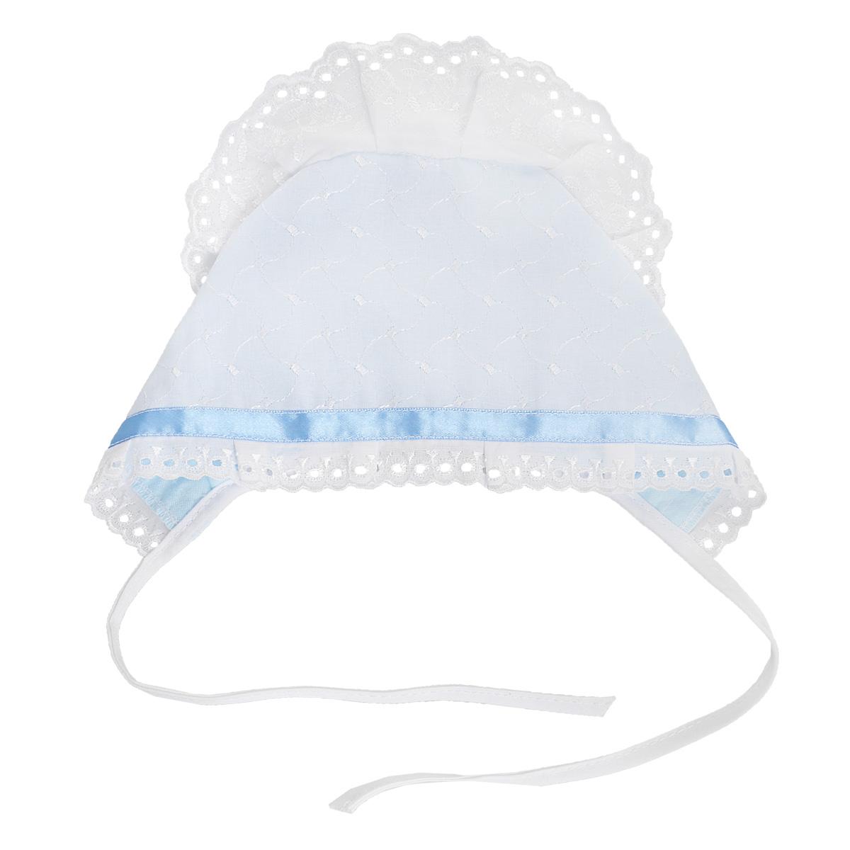 Чепчик Трон-плюс комплект для крещения детский трон плюс рубашка чепчик цвет белый 1403 размер 62 3 месяца