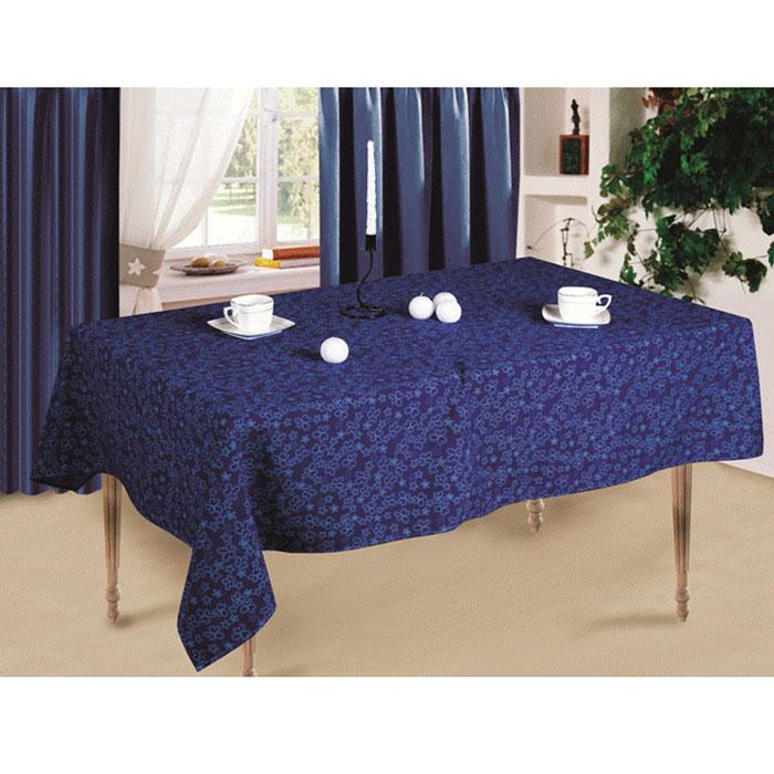 Скатерть Синие цветы, 145 x 150 см скатерть secret de maison pompadour помпадур размер 150 см х 250 см