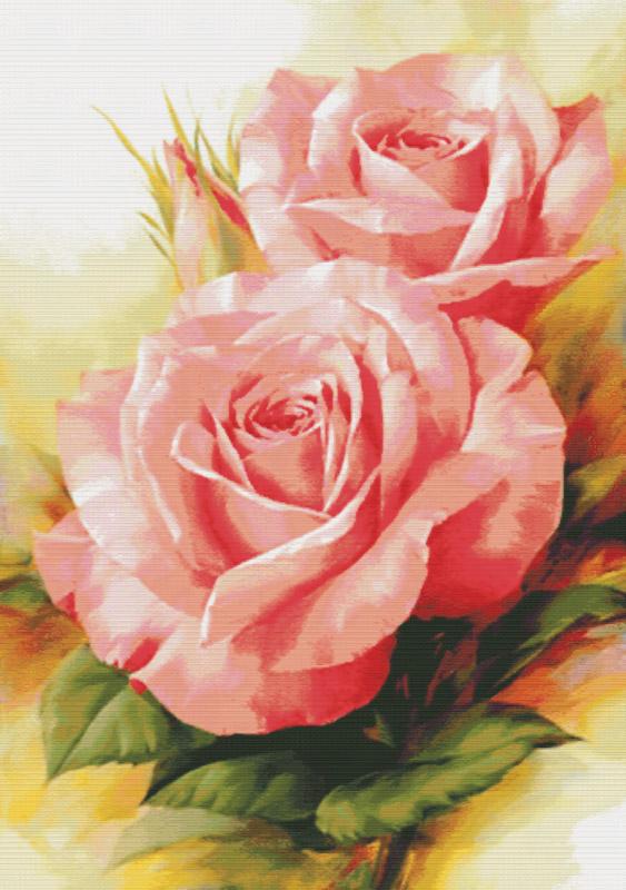 """Набор для вышивания крестом """" Королевские розы"""", 75 х 102 см"""
