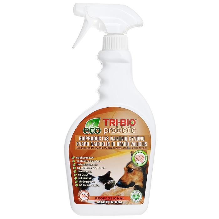 """Биосредство """"Tri-Bio"""" для удаления запахов и пятен от домашних животных, 420 мл"""
