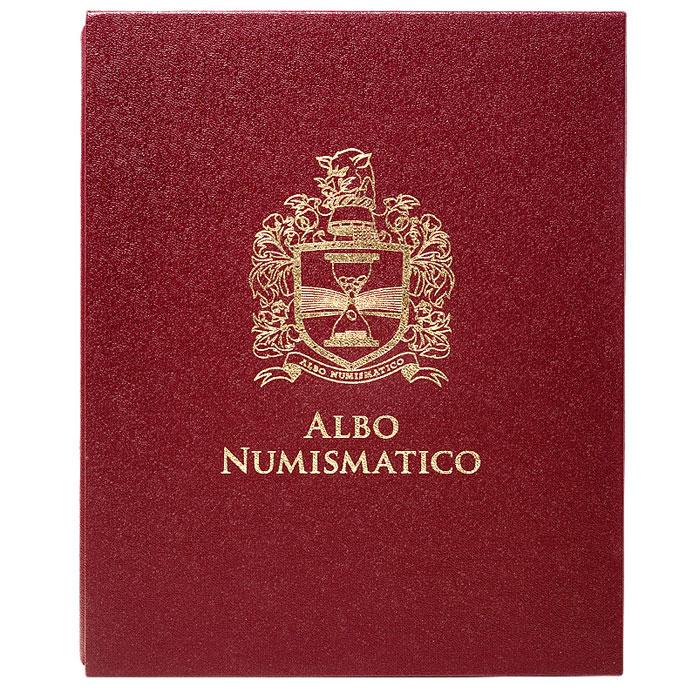 Футляр для альбома, цвет: бордовый. F25 юбилейные и памятные монеты ссср 1965 1989