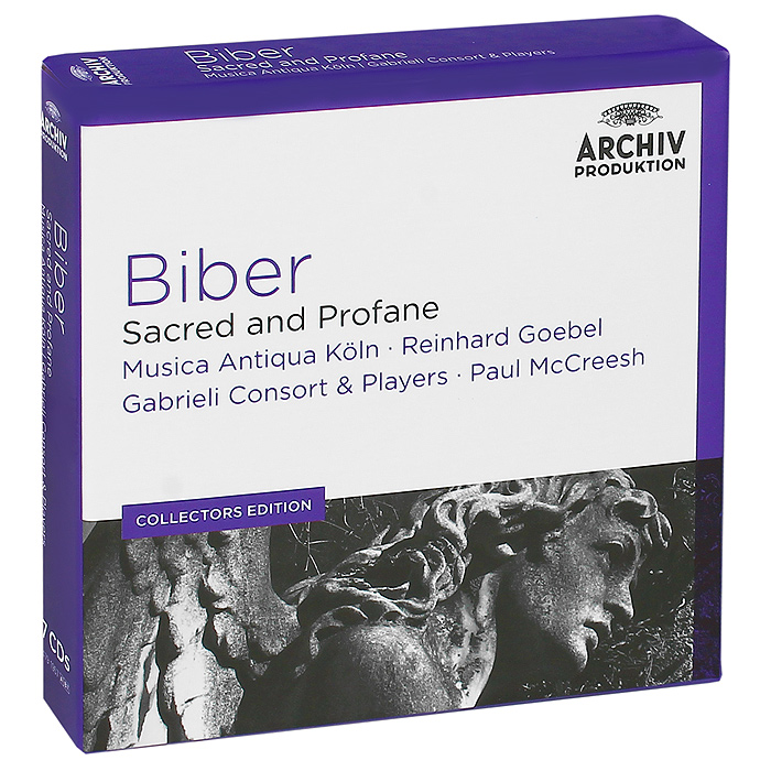 Musica Antiqua Koln Orchestra,Gabrieli Consort And Players Orchestra,Рейнхард Гебель,Пол Маккриш Biber. Sacred And Profane (7 CD) речь 978 5 9268 1644 7