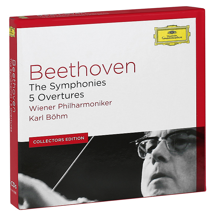 Карл Бем,Wiener Philharmoniker Orchestra Karl Bohm, Wiener Philharmoniker. Beethoven. The Symphonies. 5 Overtures (6 CD) лорин маазель wiener philharmoniker lorin maazel sibelius the seven symphonies limited edition 4 cd blu ray audio
