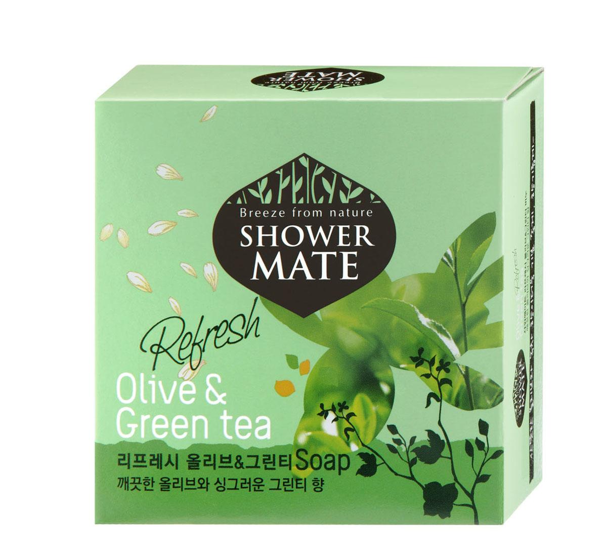 Shower Mate Мыло косметическое Оливки и зеленый чай, 100 г