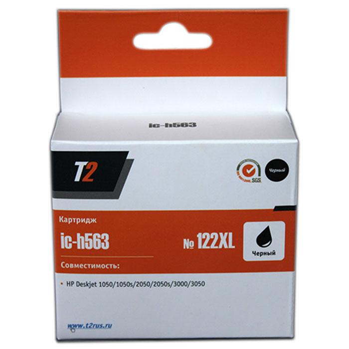 T2 IC-H563 картридж для HP Deskjet 1050/1050s/2050/2050s/3000/3050 (№122XL), Black for hp 122 black ink cartridge for hp 122 xl deskjet 1000 1050 2000 2050 3000 3050a 3052a printer