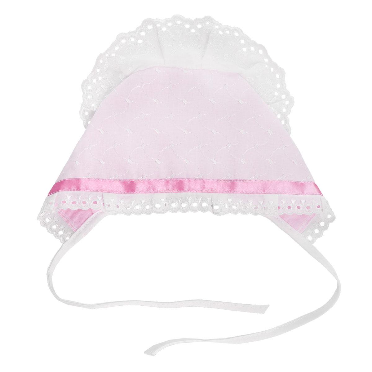 Чепчик Трон-плюс комплект для крещения детский трон плюс рубашка чепчик пеленка цвет белый 1417 размер 62 3 месяца