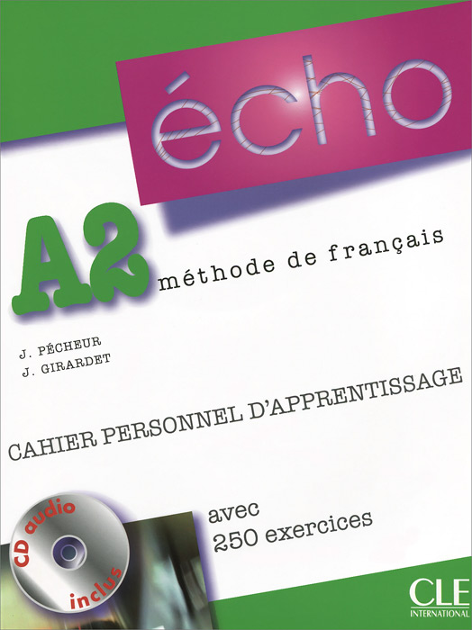 Echo A2: Cahier personnel d'apprentissage (+ CD-ROM)