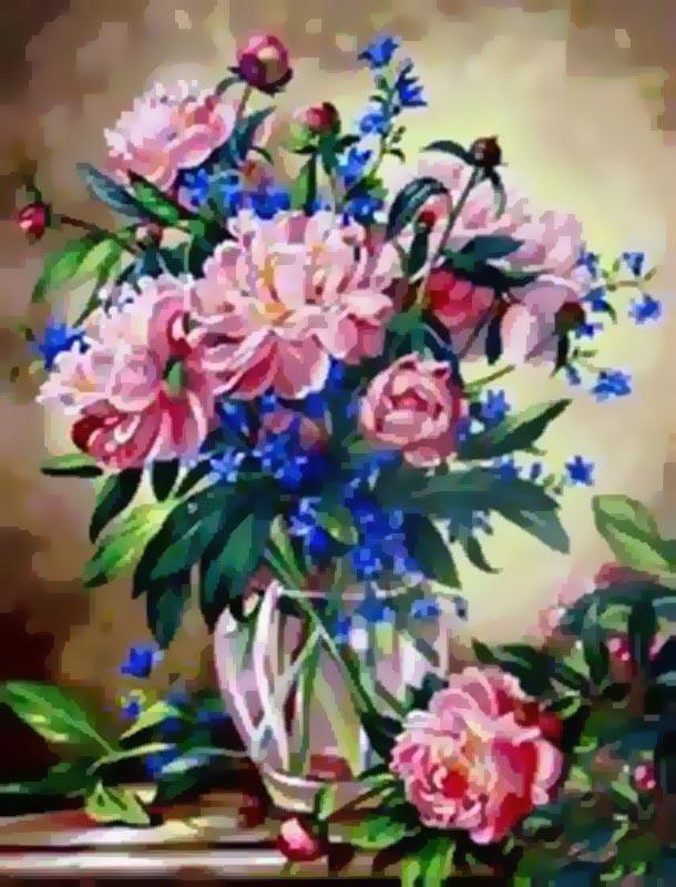 Живопись на холсте Букет лесных цветов, 40 х 50 см живопись на холсте букет маков 40 см х 50 см