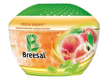 Ароматические гелевые шарики Breesal Энергия фруктов, 215 г освежитель воздуха breesal aroma drops свежесть летнего луга гелевые шарики