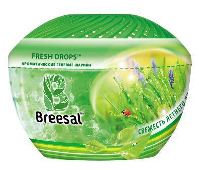 Ароматические гелевые шарики Breesal Свежесть летнего луга, 215 г освежитель воздуха breesal aroma drops свежесть летнего луга гелевые шарики