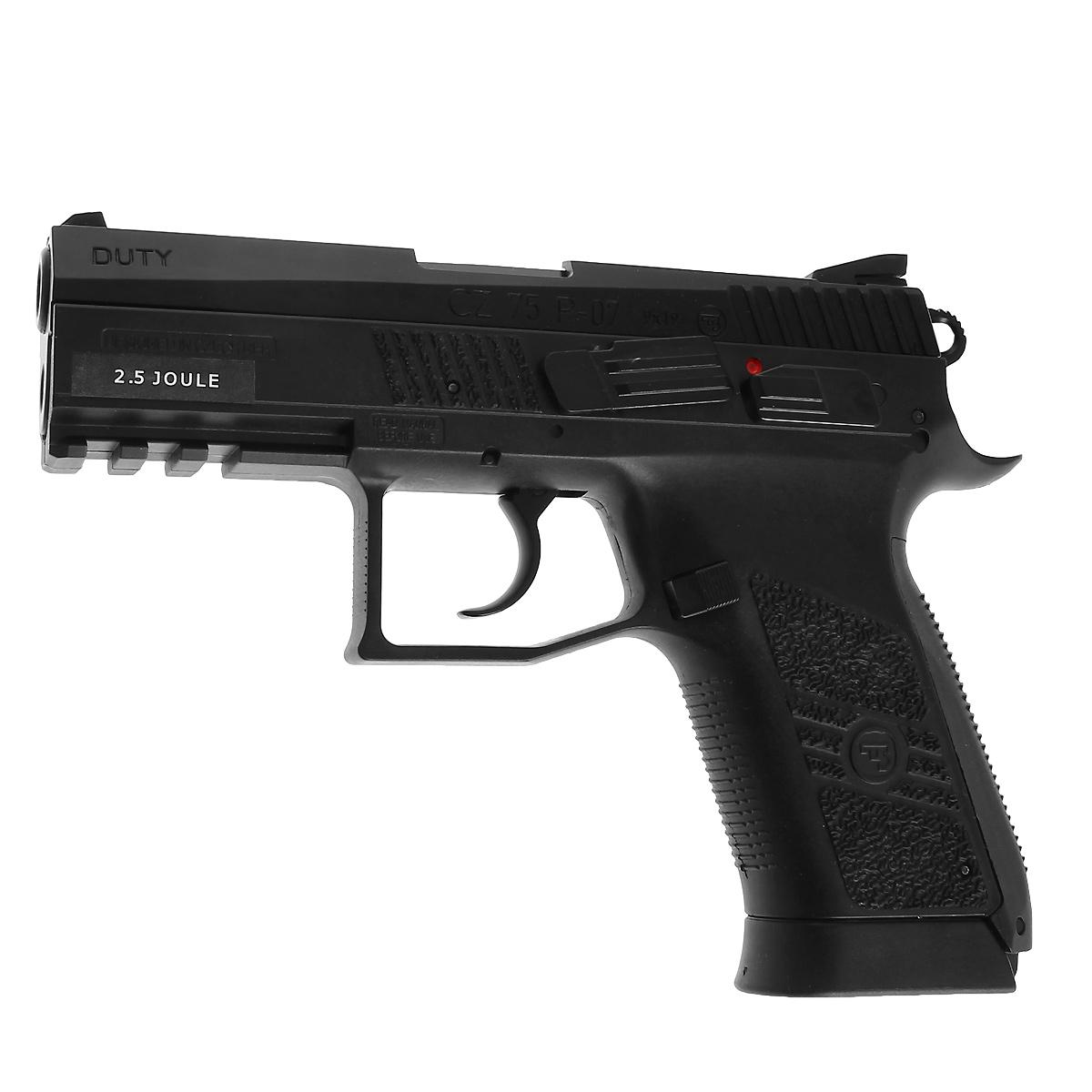 ASG CZ 75 P-07 Duty пистолет пневматический CO2, 4,5 мм, цвет: Black (16726) цена
