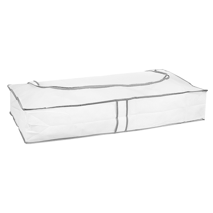 Кофр подкроватный Hausmann, цвет: белый, 80 х 40 х 15 см ящик для хранения белья hausmann 30х35х11 см