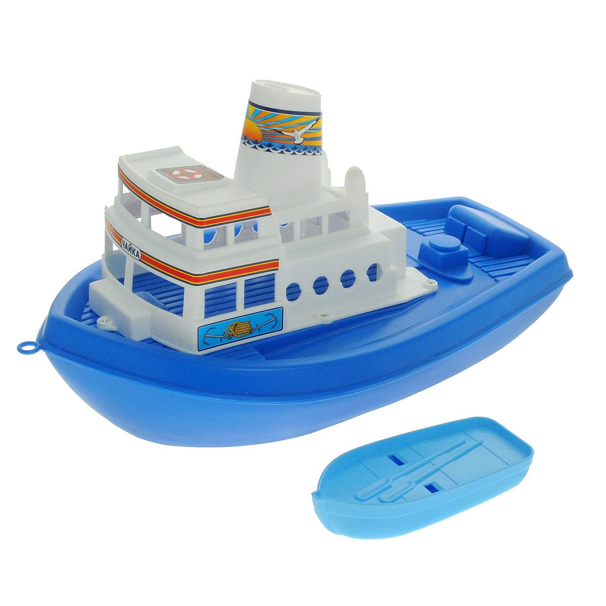 Корабль Полесье Чайка, цвет в ассортименте игрушка полесье корабль чайка 36964