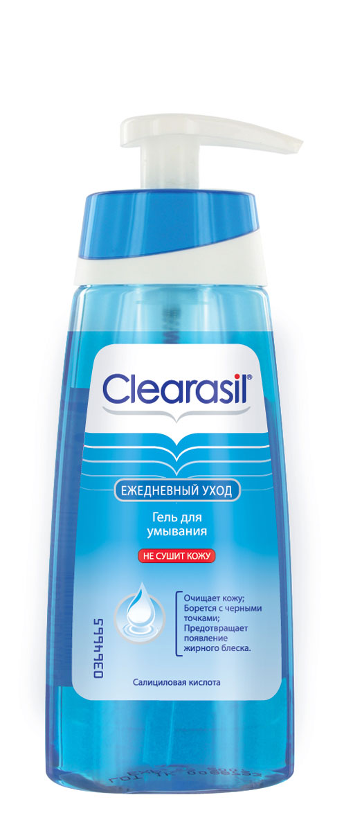 Гель для умывания Clearasil Stayclear, 150 мл7533203Гель для умывания Clearasil Stayclear разработан специально для ежедневного очищения лица. Формула продукта основана на комбинации мягких активных веществ, поэтому гель деликатно очищает кожу, эффективно предотвращая появление прыщей. Данное средство не содержит жиров, что позволяет коже выглядеть не только чистой, но и свежей. Не сушит кожу. Активный компонент: Салициловая кислота 2% -эффективный ингредиент в борьбе за чистоту кожи. Она проникает глубоко в поры и способствует отшелушиванию омертвевших клеток кожи, а также помогает снять воспаление и покраснение. Характеристики: Объем: 150 мл. Производитель: Франция. Товар сертифицирован. Рекомендуем!