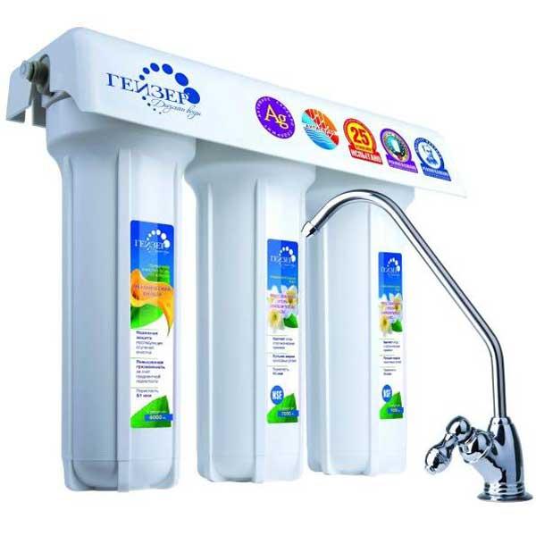 Трехступенчатый фильтр для очистки жесткой воды Гейзер 3 ИВЖ Люкс цена и фото
