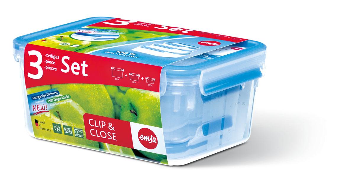 Набор пластиковых контейнеров Emsa