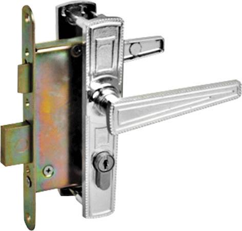 Замок врезной Зенит, цвет: серебряный. 6700167001Врезной замок Зенит применяется для установки в двери как правосторонние, так и левосторонние толщиной от 40мм. Корпус выполнен из металла. Конструкция врезная с одним квадратным ригелем, который надежно закрывает дверь, и позволяют обезопасить имущество. В комплекте 4 ключа. Характеристики: Материал: сталь. Размер замка: 20 см x 8,5 см x 2 см. Размер ручки: 17 см x 3 см x 6,5 см. Длина ключа: 6 см. Размер упаковки: 20,5 см x 10 см x 7 см. Рекомендуем!