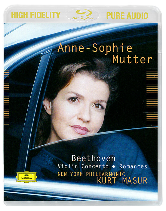 Анна-Софи Муттер,Курт Мазур,New York Philharmonic Orchestra Anne-Sophie Mutter, Kurt Masur. Beethoven. Violin Concerto / Romances (Blu-Ray Audio) анна софи муттер anne sophie mutter mendelssohn cd dvd