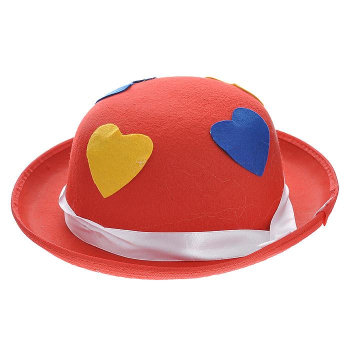 Маскарадная шляпа, цвет: красный. 31318 шляпа для игрушек 3488159 размер 10 см красный