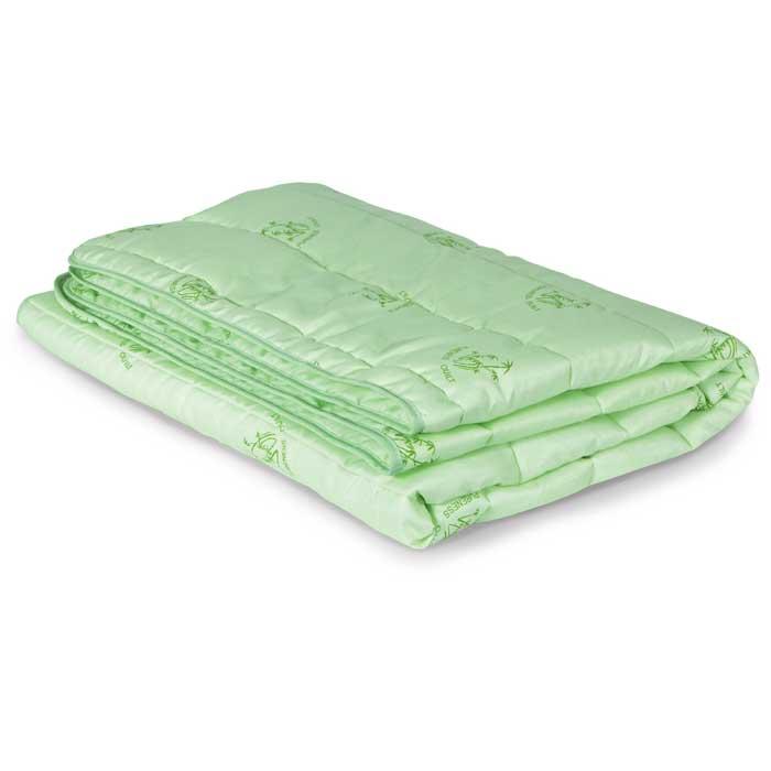 """Одеяло облегченное Miotex """"Бамбук"""", наполнитель: волокно бамбука, цвет: зеленый, 172 см х 205 см"""