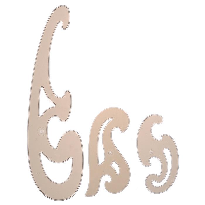 Набор лекал Koh-i-Noor, малый, цвет: коричневый, 3 шт лекало гибкое koh i noor 50 см