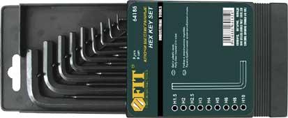 Набор шестигранных Fit, 9 шт, 1,5-10 мм цены