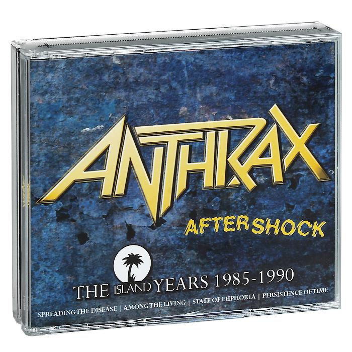 цена на Anthrax Anthrax. Aftershock. The Island Years 1985-1990 (4 CD)