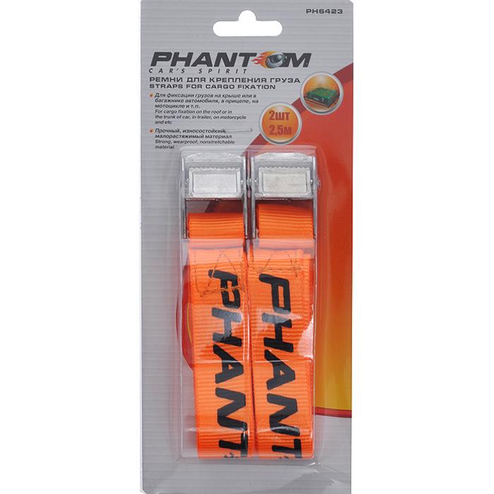Ремень для крепления груза Phantom, 2 шт х 2,5 м ремень для грузов tor 35а 2 jd