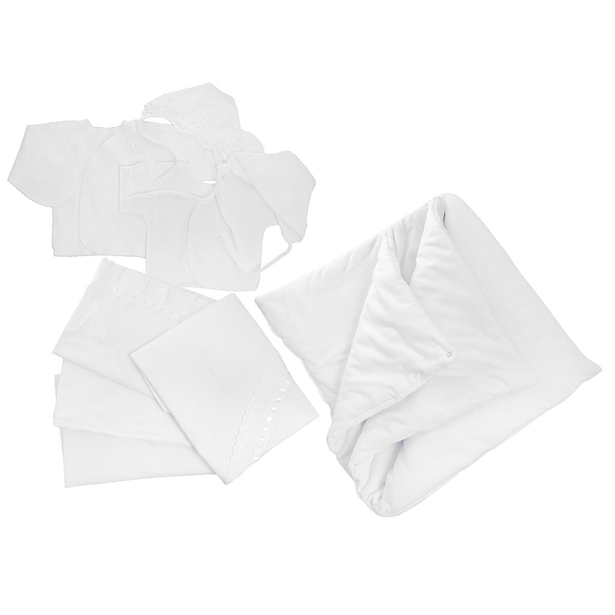Комплект одежды Трон-плюс комплект для крещения детский трон плюс рубашка чепчик цвет белый 1403 размер 62 3 месяца