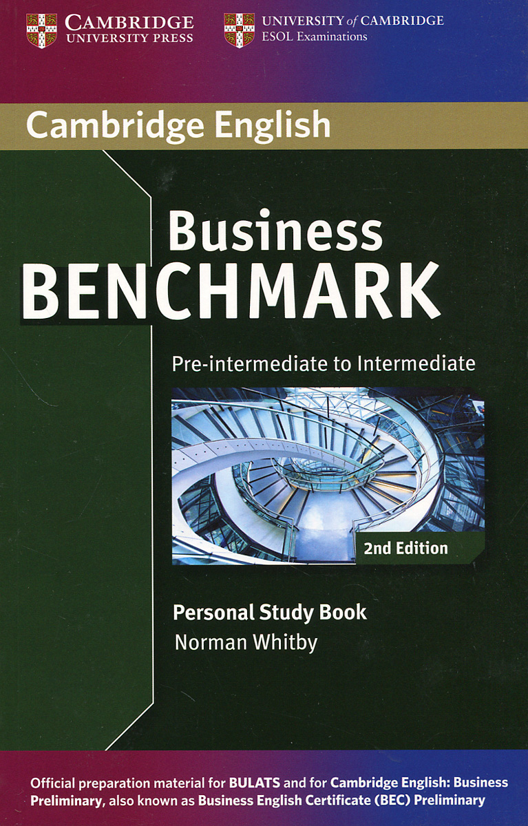 Business Benchmark: Pre-intermediate to Intermediate: Personal Study Book