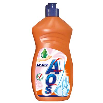 Жидкость для мытья посуды AOS Бальзам, 450 мл средство для мытья посуды aos 450 мл бальзам 2в1 в ассорт
