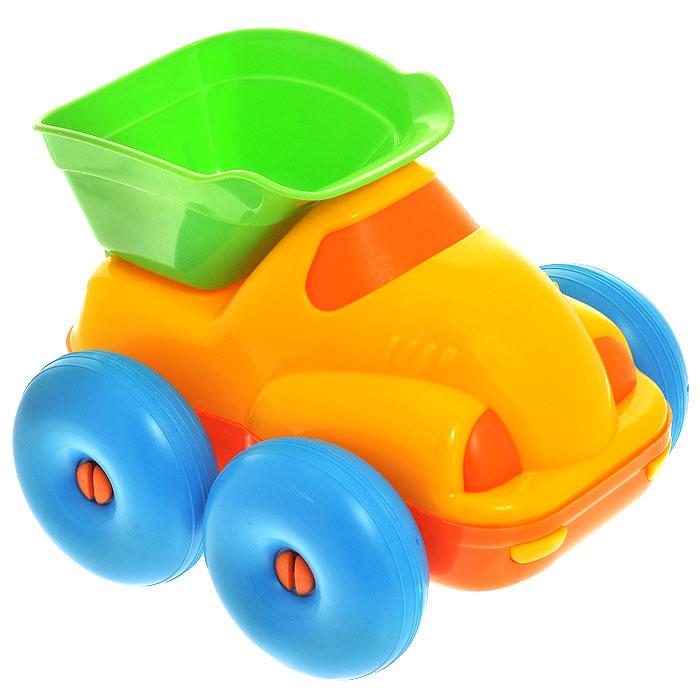 Самосвал Полесье Блоппер, цвет в ассортименте3782Самосвал Полесье Блоппер, изготовленный из прочного безопасного материала ярких цветов, отлично подойдет ребенку для различных игр. Самосвал оборудован откидывающимся кузовом. Большие колеса со свободным ходом обеспечивают игрушке устойчивость и хорошую проходимость. Ваш ребенок сможет прекрасно провести время дома или на улице, перевозя в своем самосвале различный груз. Характеристики: Размер самосвала: 18 см x 13 см x 15 см. Уважаемые клиенты! Обращаем ваше внимание на цветовой ассортимент товара. Поставка осуществляется в зависимости от наличия на складе.
