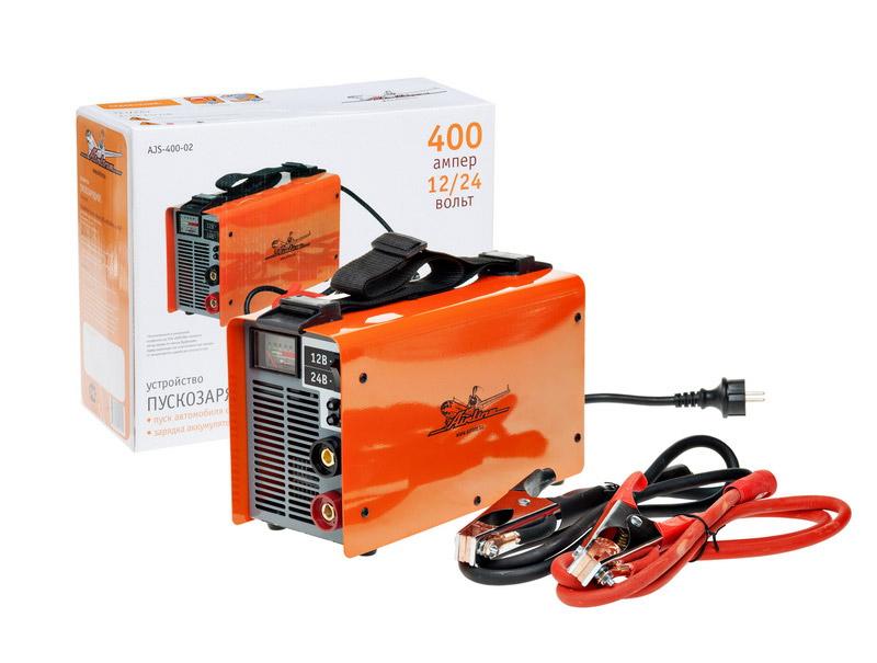 Автомобильное пускозарядное устройство Airline AJS-400-02, 400 А пуско зарядное устройство airline ajs 400 02 7000вт 12 24в 400 250а 6кг