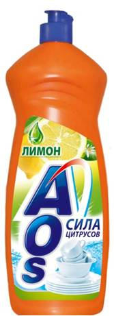 Жидкость для мытья посуды AOS Лимон, 900 мл средство для мытья посуды aos 450 мл бальзам 2в1 в ассорт