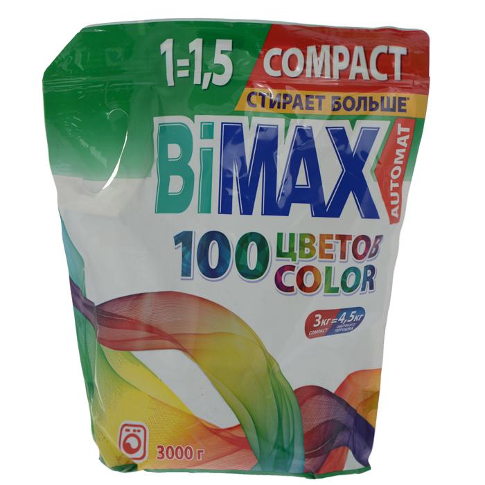 Стиральный порошок BiMax Color, 3 кг. 523-1 стиральный порошок bimax color 1 5 кг