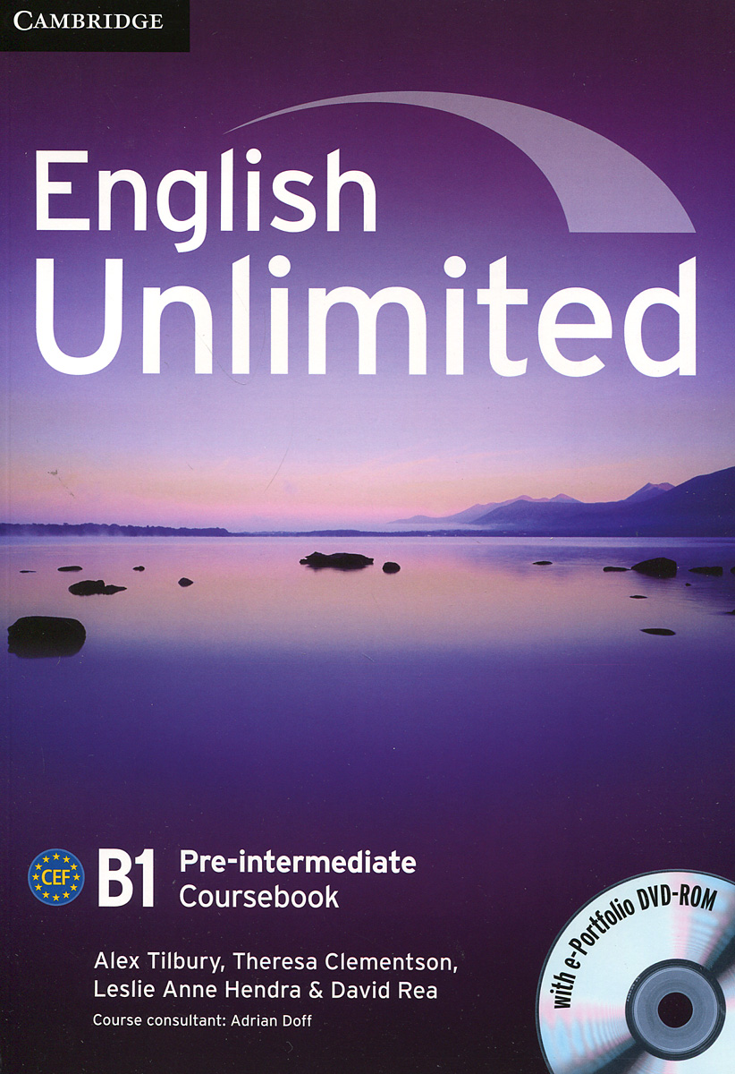 English Unlimited: Pre-intermediate B1 : Coursebook (+ DVD-ROM) english unlimited elementary self study pack dvd rom