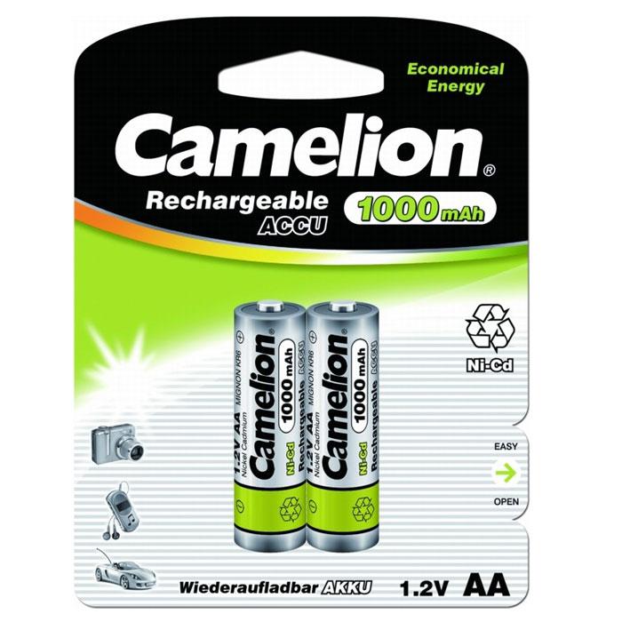 Camelion AA-1000mAh Ni-Cd BL-2 (NC-AA1000BP2) 2 аккумулятора, 1.2В цена и фото