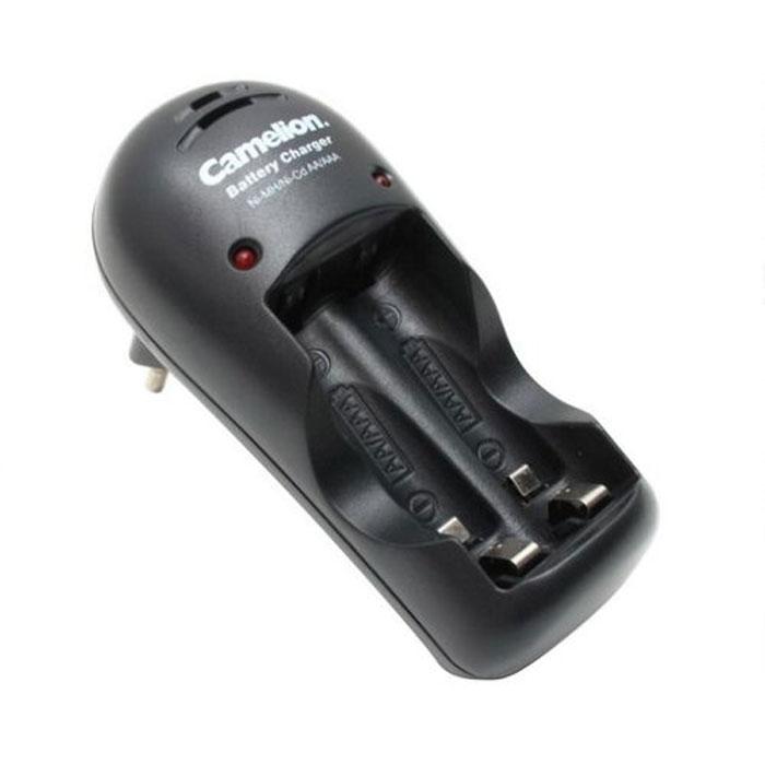 Зарядное устройство Camelion для 1-2AA/AAA, 150мА, черный автомобильное зарядное устройство technoking зу 75и для аккумуляторов 6 12 в 10 а 46430 красный