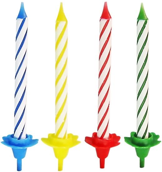 Свечи для торта Fackelmann Rio, с 12 подставками, 24 шт miland свечи для торта с подставками цвет розовый 12 шт