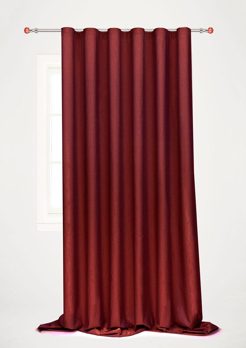 Штора готовая для гостиной Garden, на ленте, цвет: бордовый, 200 х 260 см. С 536097 V108 штора готовая 190х175 garden