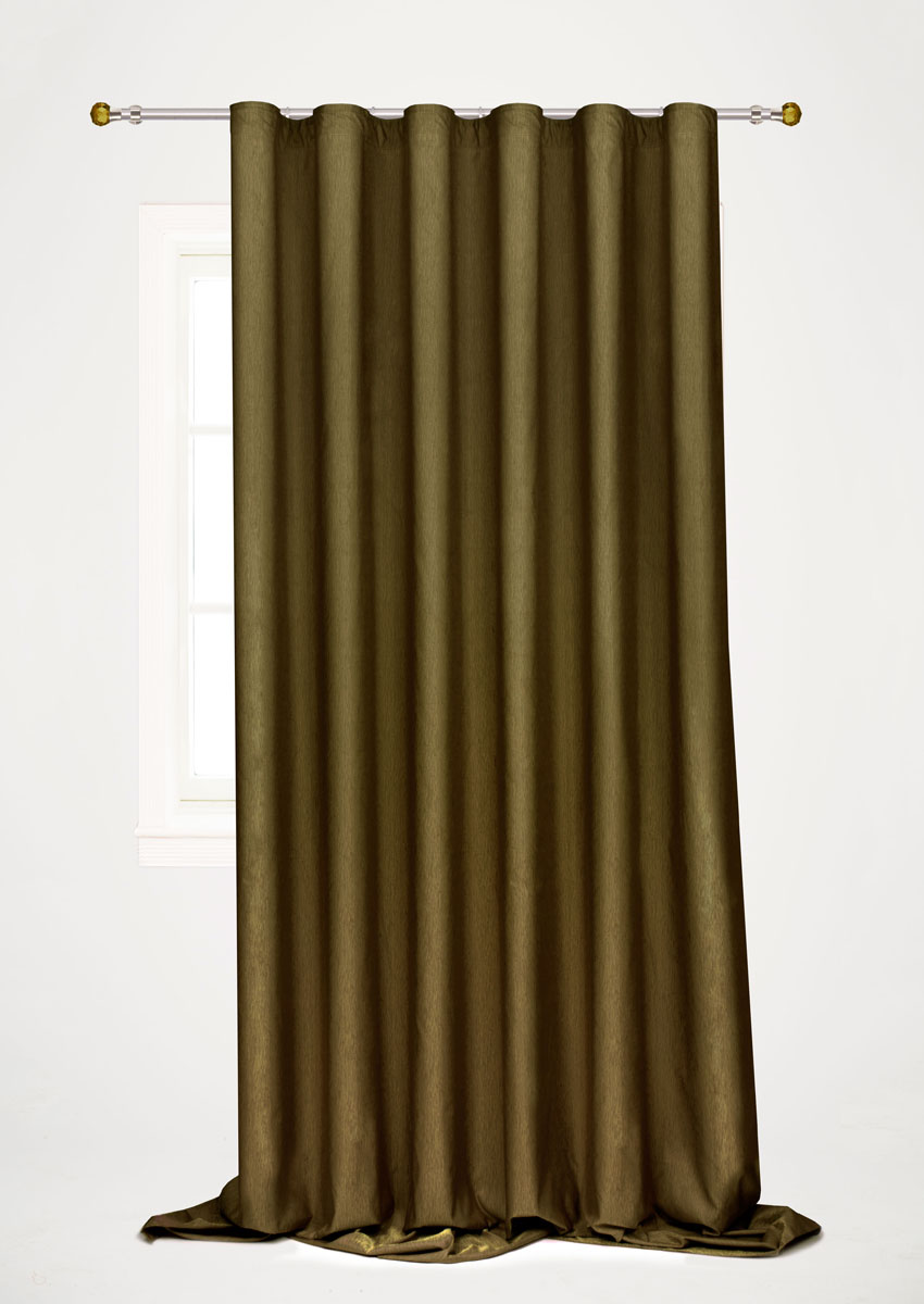 Штора готовая для гостиной Garden, на ленте, цвет: темно-зеленый, 200 х 260 см. С 536097 V60 штора готовая 150х180 garden