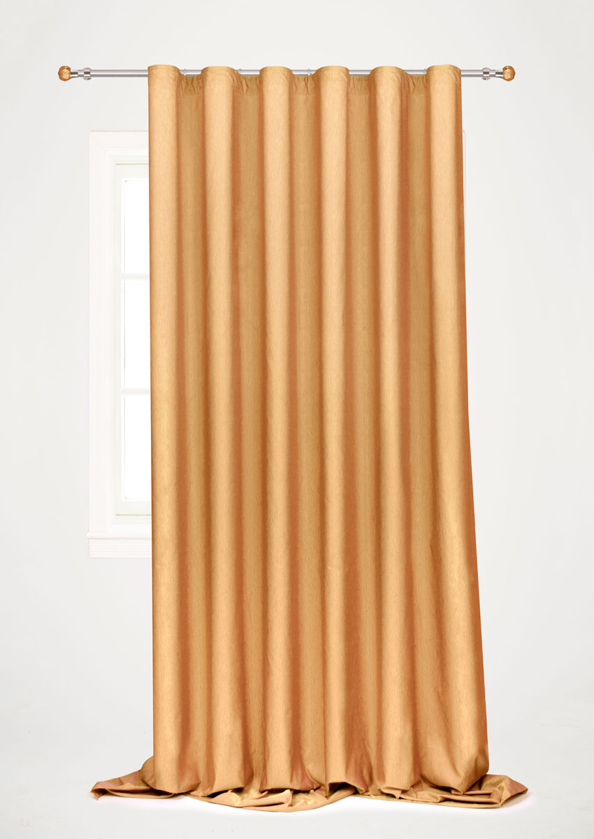 Штора готовая для гостиной Garden, на ленте, цвет: коричневый, 200 х 260 см. С 536097 V76 штора готовая 190х175 garden