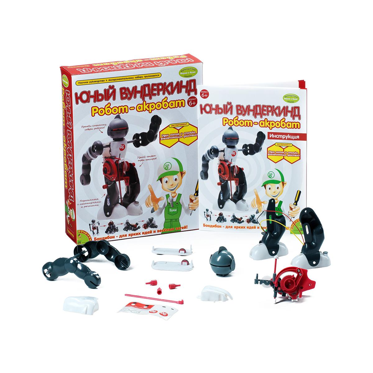 """Научно-познавательный набор Bondibon """"Робот-акробат"""""""