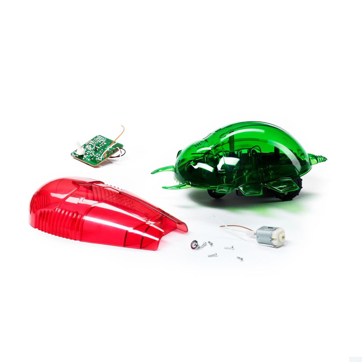 Научно-познавательный набор Bondibon РобототехникаВВ0992Удивить друзей, управляя жуком-роботом при помощи пульта от телевизора или обычного фонарика? О таком ваш малыш даже не мечтал! С научно-познавательным набором «Робототехника» он подчинит себе сразу двух роботов, способных выполнять различные команды. Например, вовремя будить. Для управления ими достаточно пульта от телевизора или плеера, а также естественного света. Фонарик тоже подойдет. Набор помогает ребенку познать основы робототехники и узнать о том, что такое инфракрасный и световой сенсоры. Роботы управляются дистанционно на расстоянии до двух метров. О том, как и почему это происходит, рассказывает яркая понятная брошюра. Характеристики: Материал: пластик, металл. Размер упаковки: 26,9 см х 6 см х 24,3 см.