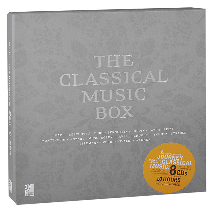 The Classical Music Box (8 CD) chinese soft music book 2018 new song pop ranking 10 cd box